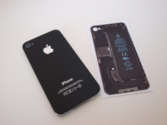 iPhone 4 skin schwarz