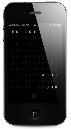 iPhone 4 Lockscreen QLOCKTWO