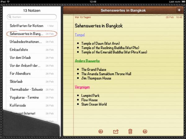 iPad Notizen am PC bearbeiten