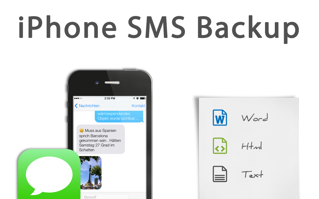 iPhone SMS Backup in Word und Excel
