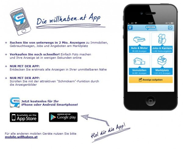 Willhaben iPhone App