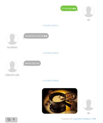 WhatsApp Nachrichten als HTML exportiert