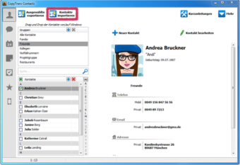Outlook Kontakte importieren