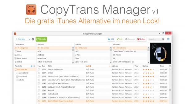 CopyTrans Manager- die beliebteste iTunes Alternative
