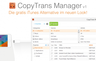 iTunes Alternative CopyTrans Manager