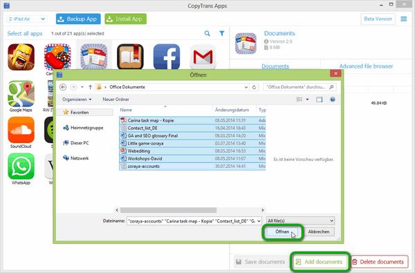 Word, Excel. Powerpoint zu iPad übertragen