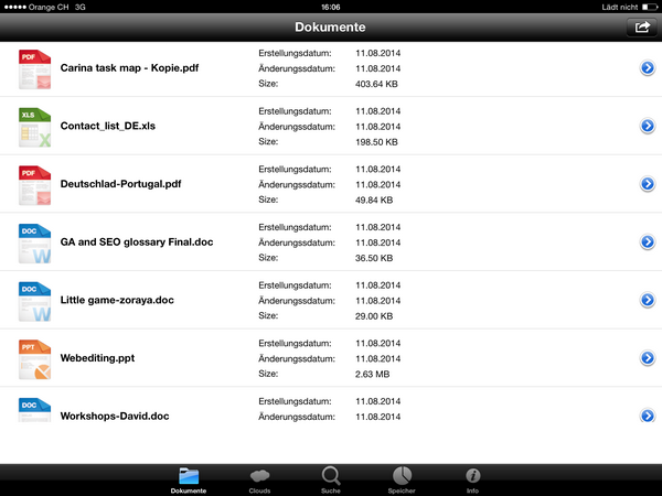 Office Dokumente am iPad öffnen