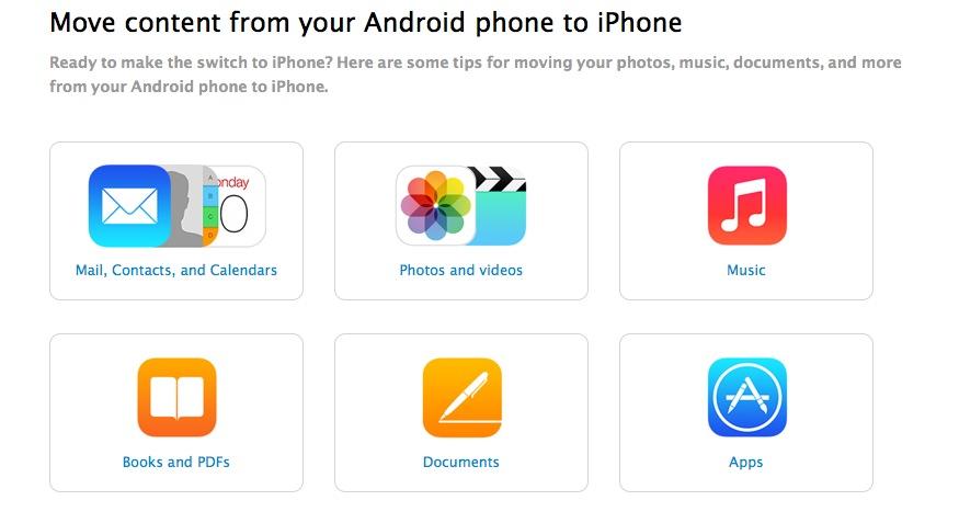 Android zu iPhone wechsel