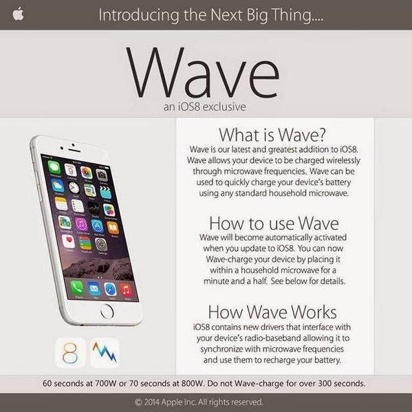 big thing ios8 iPhone mit der Mikrowelle aufladen