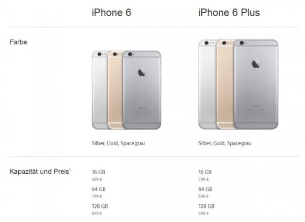 preise 6 600x437 iPhone 6 und iPhone 6 Plus erscheinen am 19. September