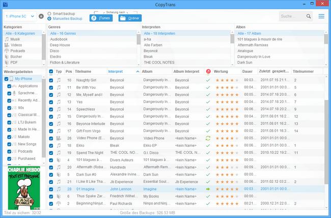 iPod Musik am PC sichern