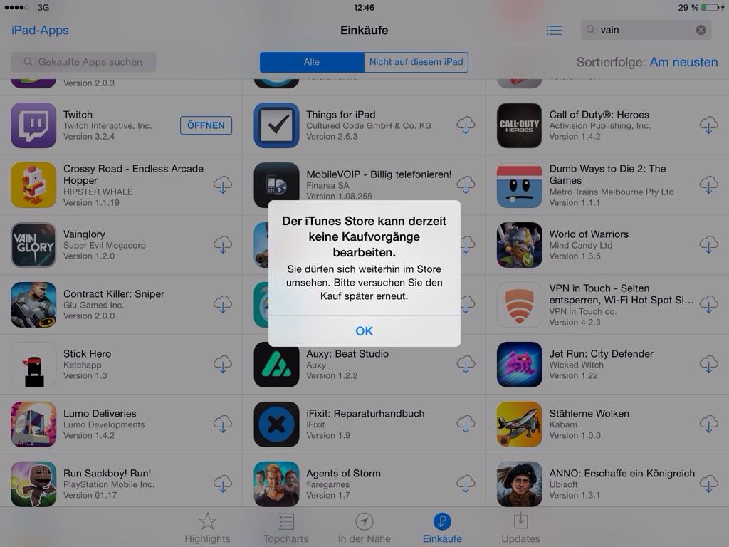 IMG 8810 Serverprobleme im App und iTunes Store