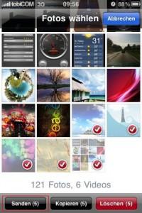 iphone foto per email
