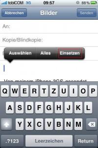 iphone email mehr als 5 Fotos