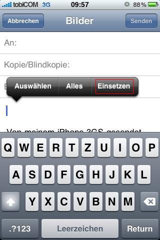 Bilder Per Email Verschicken Iphone