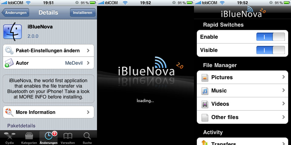 how to send files over bluetooth