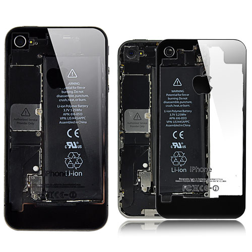 iphone 4 transparent back cover iPhone 4 mit transparentem Backcover ausstatten