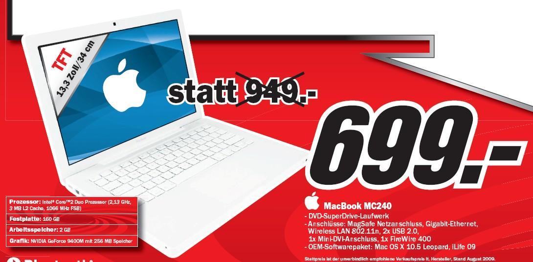 MacBook für 699€ nur heute bei Media Markt Österreich ...